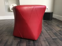Leather look Ottoman- Red St Albert, T8N 7K1