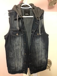 Denim vest with hood Medium