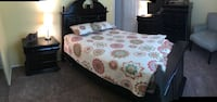 Black wood painted bed set with mattress set and chair Black Jack, 63033