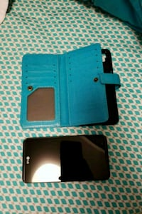LG X Power with blue wallet case Ames, 50010