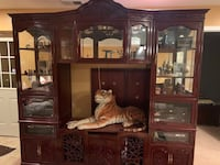 brown wooden cabinet with hutch Glen Burnie, 21060