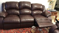 Black leather 2-seat recliner sofa Fairfax, 22030