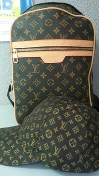 black and brown Louis Vuitton leather backpack Sacramento, 95842