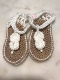 Baby crocheted sandals very soft white  Odessa, 33556