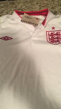white and red England  umbro polo shirt Mississauga, L4Z