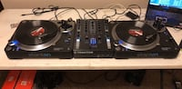 Black and gray dj turntable 1694 mi