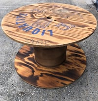 Designer spool coffee table