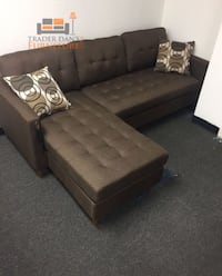 Brand new brown linen sectional sofa Silver Spring, 20902