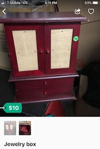red and white wooden cabinet San Diego, 92173