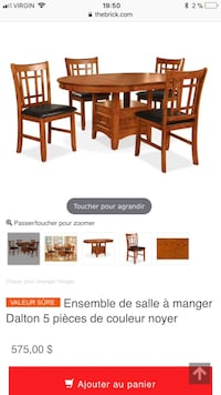 brown wooden dining table set screenshot Montréal, H1J 1W8