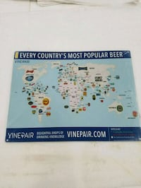 Popular beers of world by country steel metal sign