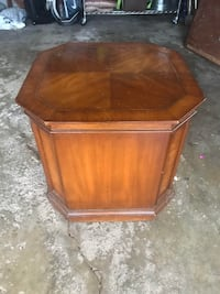 Wood side table with storage CHICAGO