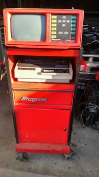 red and black Snap-on tool cabinet Pasadena, 21122