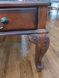 High End Leather Side Table