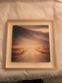 West Elm Painting- Grey/purple/pink color scheme. Shadow box framing New York, 10003