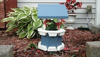Blue and white mini wishing well ceder or pine Schaumburg, 60193