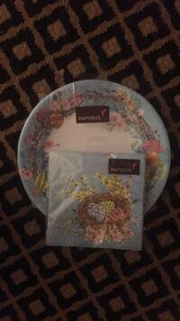 Easter plates and napkins  Alexandria, 22306