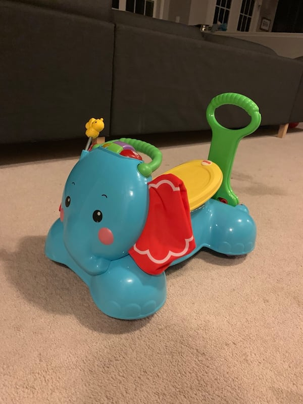 Fisher Price bounce stride & ride elephant bff7a76f-c6dd-4ef4-bc4a-6d5c5bfb488a