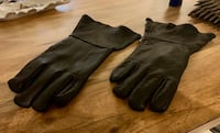 Never Worn - Size Large - Real Leather Handcrafted - Black Gauntlet Motorcycle Lined Riding Gloves - USA Made Miami, 33179