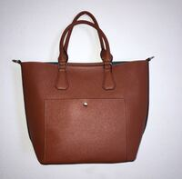 Leather Brown Tote with Attached Wallet Tempe, 85281
