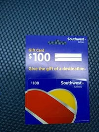 Southwest airlines gift card Las Vegas, 89119