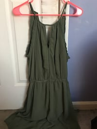 New large olive green dress
