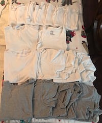 Boys undershirts $10 all firm-gap size 8-6 grey and 5 white, Hanes small -1 t shirt and 8 tanks-20 pieces in total Centereach