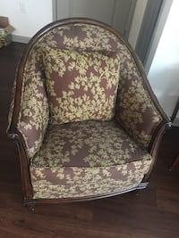 Price Negotiable - Small Floral Fabric Armchair Chantilly