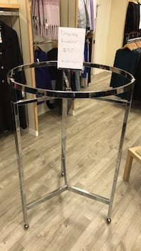 Display hanging rounder rack on wheels  Vancouver, V6C 2G3