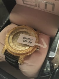 d0b984dc1 round gold-colored analog watch with link bracelet Chicago, 60651
