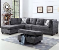 Brand New sectional sofa with storage ottoman  Toronto, M1V 4Y5