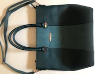 Teal leather/suede tone on tone handbag LASVEGAS