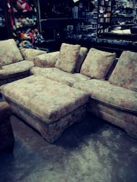 3 pieces. sofa with hide a bed. big chair with ott