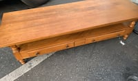 "Coffee table vintage 5 ft x 2 ft x 18"" h Long Beach, 90813"