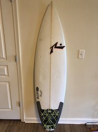 White and black surf board Bethesda, 20814
