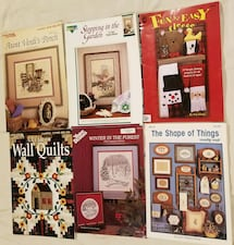 SIX Craft Leaflets/Books - Patterns, Charts, Sewing Projects!!