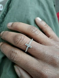 Real black diamond cross ring  Washington, 20005