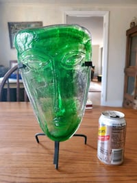 Glass mask on stand