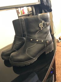 black leather side zip boots Frederick, 21703