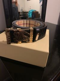 black leather belt with silver buckle Montgomery Village, 20886