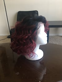 Red ombré bob real Brazilian hair 26 km