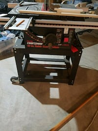 """Craftsman 10"""" Table saw with stand."""