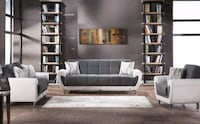 Gray & White Sofa, Love seat & chair set Springfield