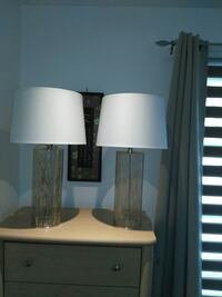 two white and brown table lamps Mascouche, J7K 1X5
