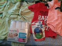 0-3 months baby boy lot-clothes, swaddle, diaper b Norfolk, 23503
