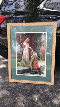 "Huge print of ""The Accolade""  Professionally matted and framed."