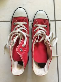 red and white Converse high tops Fairfax, 22033