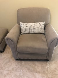 gray fabric sofa chair with throw pillow Roseville, 95678