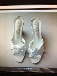 New Pair Naturalizer White Leather Slip-on Heal