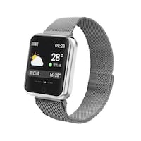 black Apple watch with black sports band Surrey, V3T
